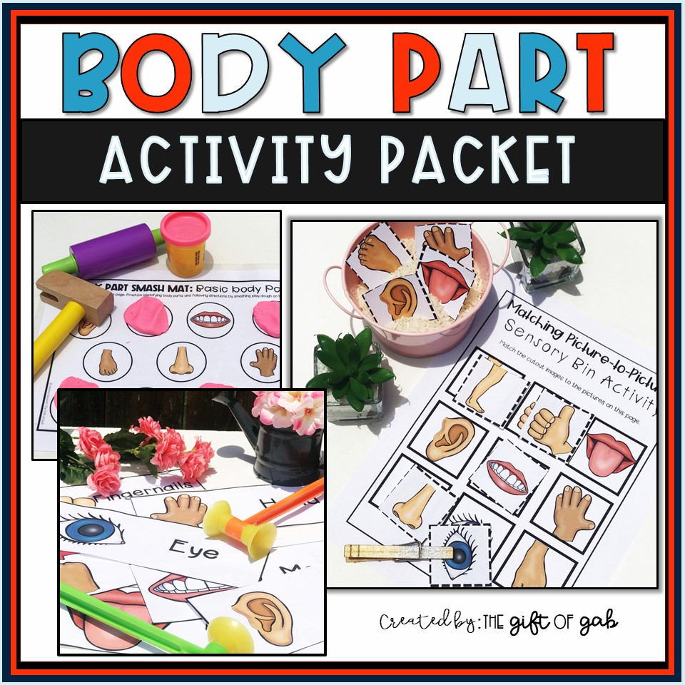 Body Part Activity Packet Cover