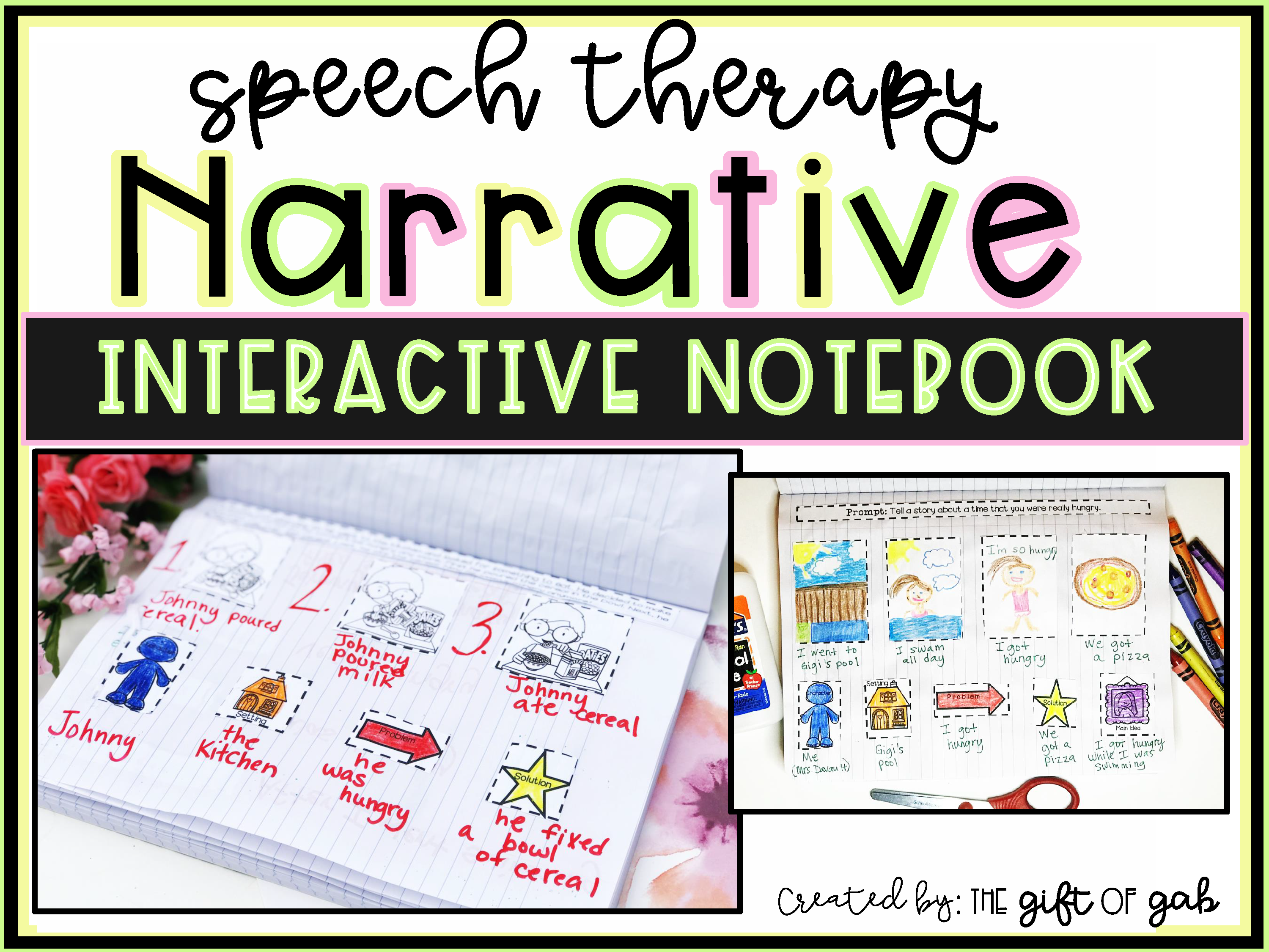 Speech Therapy Oral Narrative Interactive Notebook Product Cover
