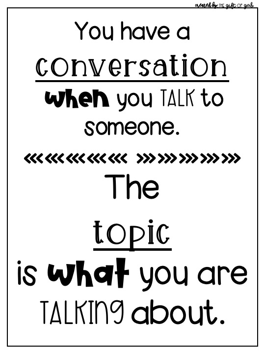 What are conversations and topics