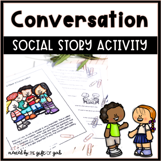 How to have a conversation social story and activities