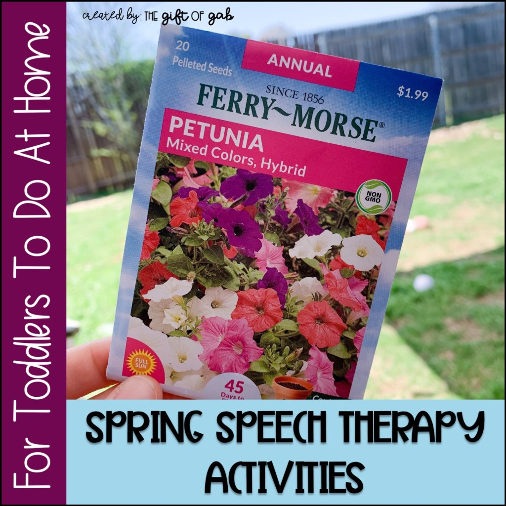 spring speech therapy activities for toddlers at home