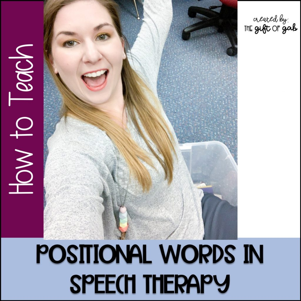 How to teach positional words in speech therapy