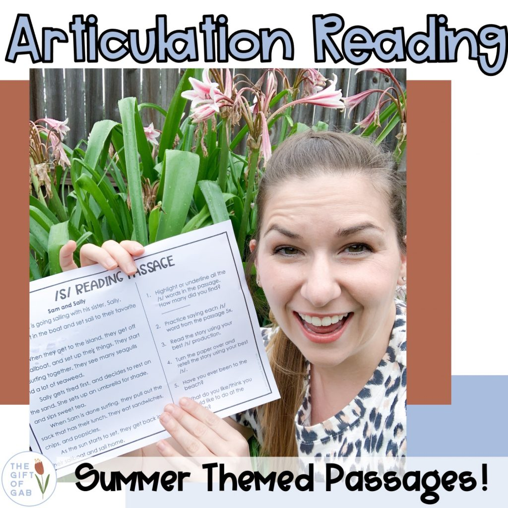 summer speech therapy articulation activities