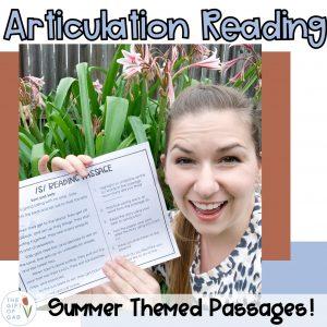 summer articulation reading passages