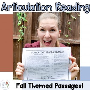 fall themed speech therapy articulation activities