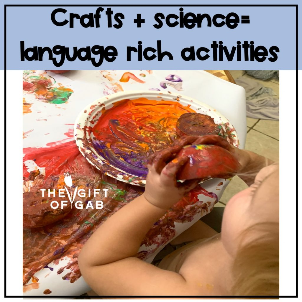 crafts and science experiments are great ways to teach toddlers new words