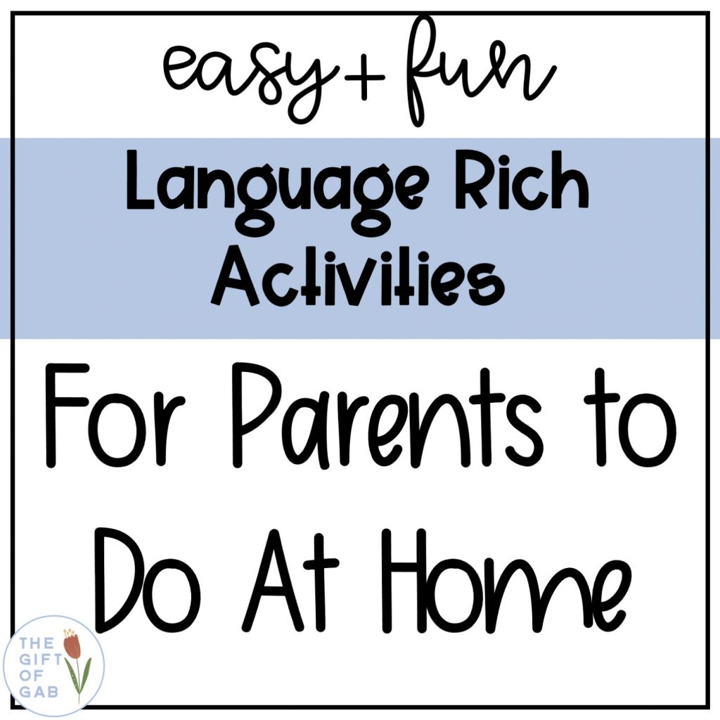 language rich activities to do at home