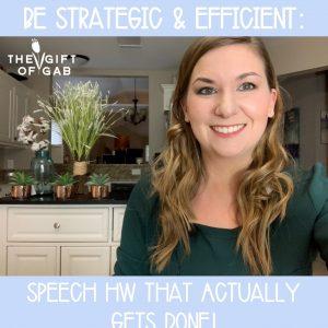 Speech Therapy Homework Ideas